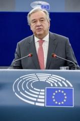 António Guterres apela a uma UE forte e unida para lidar com conflitos e crise dos refugiados