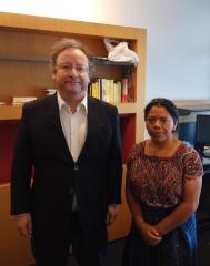 Francisco Assis reúne com activista indígena candidata ao Prémio Sakharov
